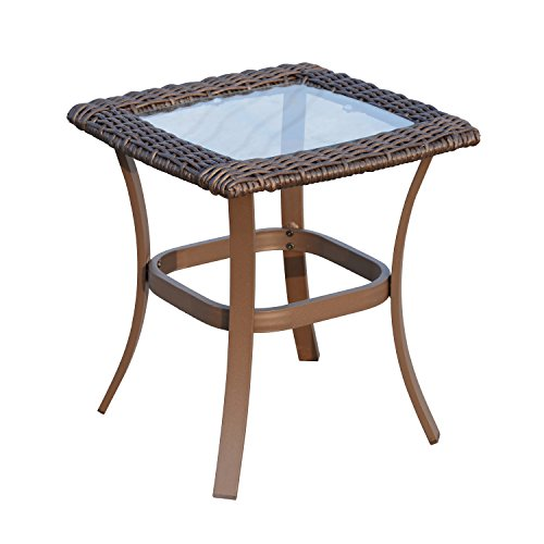 Outsunny 3pc Rattan Garden Bistro Set 2 Rocking Chairs Coffee Table Outdoor Indoor Furniture