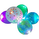 My Party Store Dot Com Multi Color Printed LED Toy Balloon (Pack Of 10) For Birthday's, Anniversaries, Weddings, Festival Decor And Party Events.