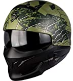 Scorpion Motorradhelm - Exo Combat Ratnik, Noir/Vert, Größe M