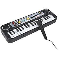 Drfeify Piano Electrónico con Micrófono, 37 Teclas Teclado Eléctrico Digital de Piano Instrumentos Musicales Juguete