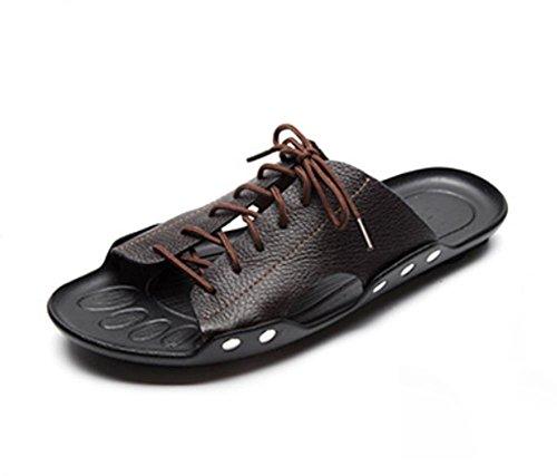 pengweiI sandali antisdrucciolevoli degli uomini di estate ansimano i pattini casuali della spiaggia traspirante Brown