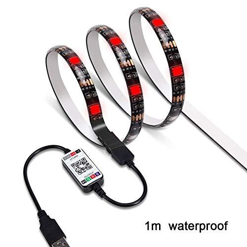 Kit tiras luces LED TV cinta adhesiva, WiFi, inalámbricas