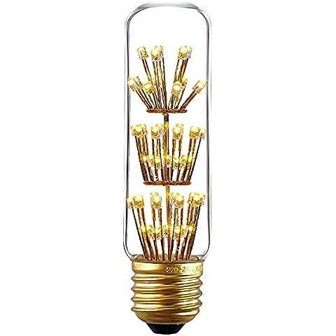 fsliving T103W LED lampadina vintage tubolare