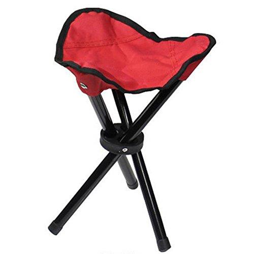 cosanter taburete plegable Taburete trípode plegable Comfort–Silla para pesca camping en la Caza o al aire libre eventos, rojo