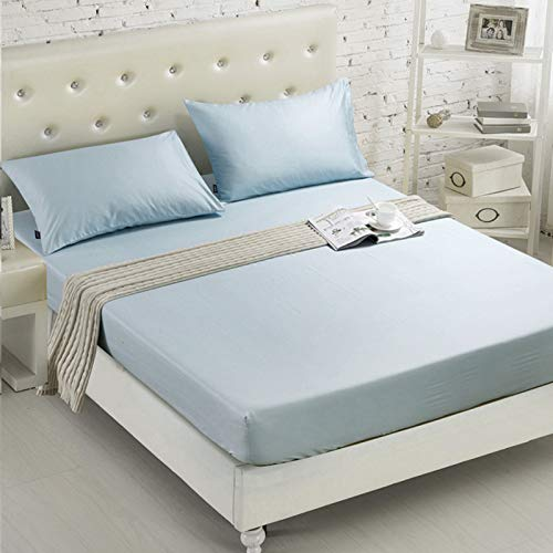 CYYCY Druck Bett Matratzenbezug wasserdicht Matratzenschoner Pad Spannbetttuch getrennt Wasser Bettwäsche mit elastischen,Einfarbiger Hotel-Matratzenbezug CLOO1-28 150 * 200 + 20cm -