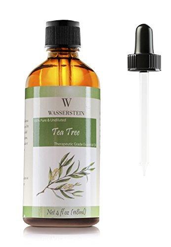 118 ml/4 oz natürliches ätherisches Teebaum Öl (Melaleuca Alternifolia) für Aromatherapie, 100% reines Basic Öl von Wasserstein (4 Oz, Tea Tree)