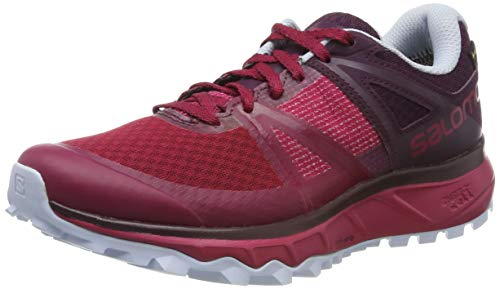 Salomon Trailster GTX W, Zapatillas de Trail Running para Mujer, Rosa (Cerise/Potent Purple/Heather), 38 EU