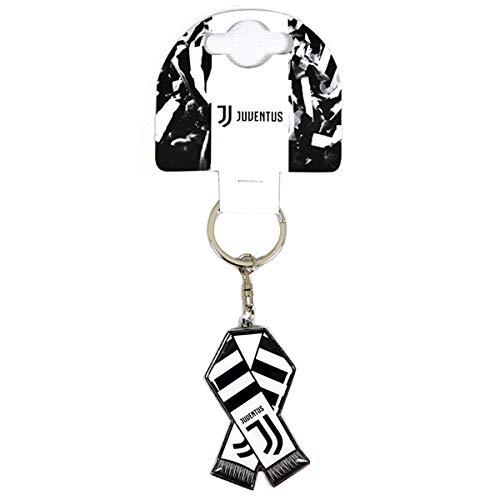 Offizieller Juventus weißer und schwarzer Barschal Entwurfs Metall schlüsselring