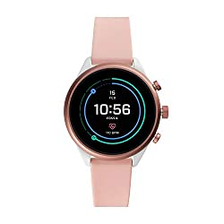 Fossil Damen-Smartwatch mit Silikon Armband FTW6022