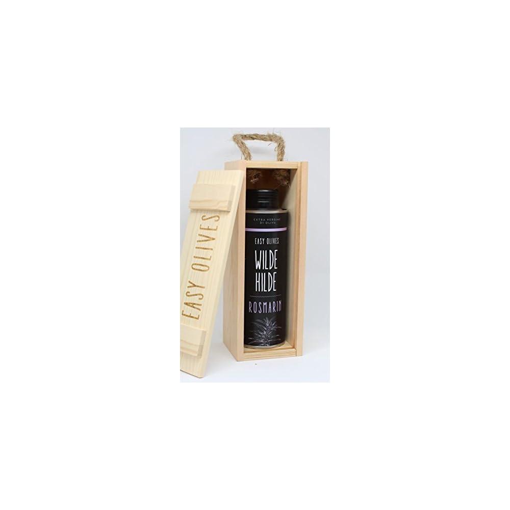 Easy Olives Geschenkbox Premium Olivenl Aus Italien Mit Natrlichen Geschmack Chili Rosmarin Zitrone Knoblauch Trffel Basilikum Minze
