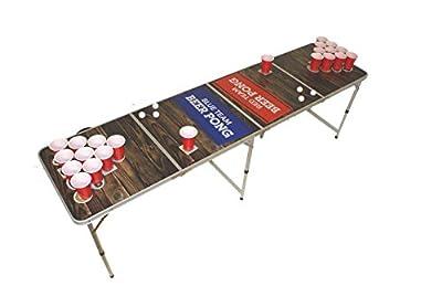Baltic Pong Beer Pong Table Beer Pong Table avec mécanisme de règle, 6 balles et 22 Bonnets 3
