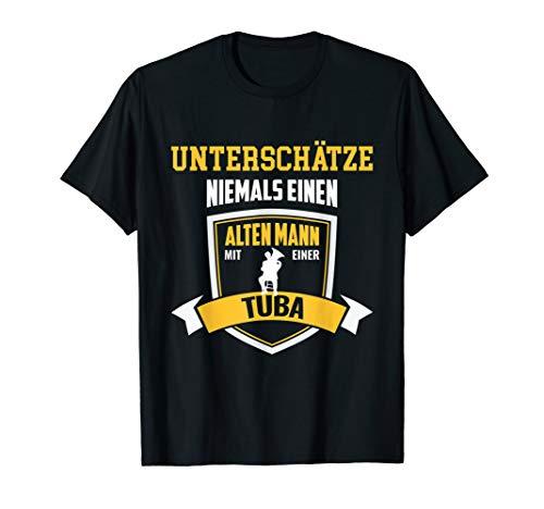 Herren T-Shirt Tuba - Geschenk Tubaspieler Mann Tubist Spruch
