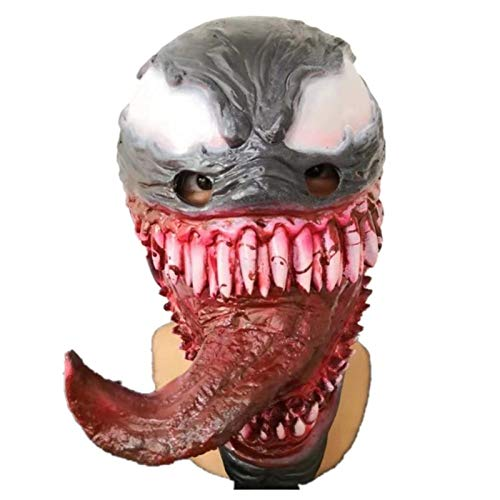 JUFENG Spiderman Kostüm Maske Film Halloween Party Cosplay Erwachsene Latex Vollgesichts Scary Prop