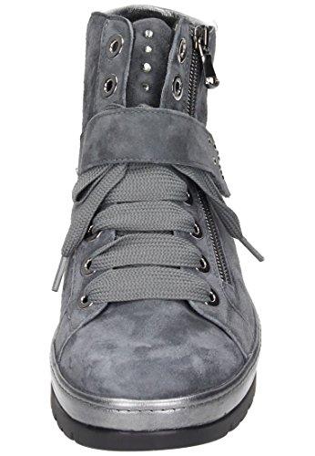 Semler Damen Ruby Biker Boots Grau