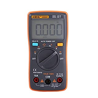 Akozon ANENG Digital Multimeter Autoranging,AN8001 True-RMS Digital Multimeter AC DC Voltage Ammeter Current Ohm Meter-Diode/Shutdown,Frequency and Duty Cycle Measurements-LCD Display-6000 Counts