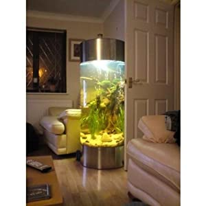All Pond Solutions Column Aquarium Fish Tank – Stainless Steel