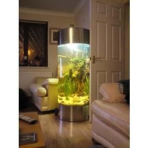 Acquario a colonna vasca per pesci in acciaio inox for Vasca giardino pesci