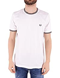 Fred Perry Men's FPM158825313 White Cotton T-Shirt