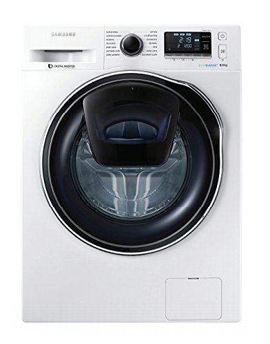 Samsung WW90K6404QW Freestanding Front-load 9kg 1400RPM A+++ White washing machine - Washing Machines (Freestanding, Front-load, White, Buttons, Rotary, Touch, Left, LED)