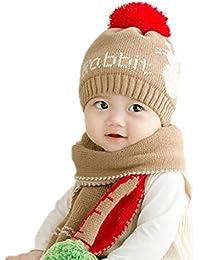 ñ set di berretto e sciarpa bambino berretto inverno uomo con sciarpa punto  cappello maschera rifornimento e280dc33ee1f