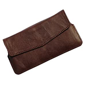 i-KitPit Quality PU Leather Pouch Case With Magnet Closure For Micromax Canvas Turbo A250 (BROWN)