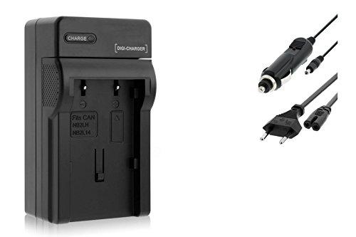 Ladegerät (Netz/KFZ) für Canon NB-2L / EOS 350D 400D / Rebel XTi / DC... MD.. MV... - s. Liste
