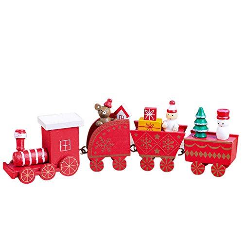 Sunnywill Bois de Noël Xmas Train Décoration de décoration intérieure Cadeau