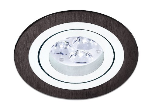 Empotrable Aluminio Circular basculante (Halógeno o LED),color Negro