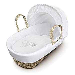 White Teddy Wash Day Moses Basket Dressings only(Basket not included)   12