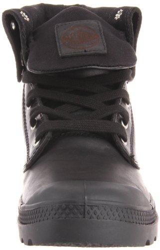 Palladium BAGGY LEATHER  CHINCHILLA  M, Bottes femme Noir (black 001)