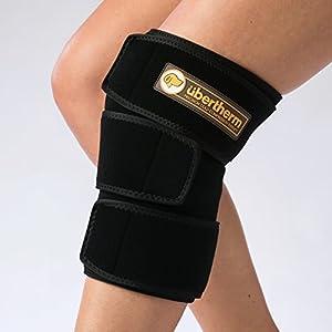 übertherm Knie Kühlkompresse, Intensive Kühlung ohne beißende Kälte dank neuer Technik, Für Kältetherapie und Sport, Inklusive Ice Pack, Wiederverwendbar, Bleibt lange kalt
