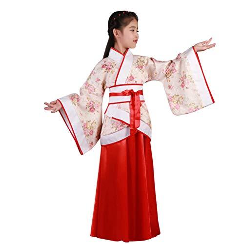 cent Fee Kostüme - Chinesisch Stil Hanfu Kinder Bühne Show Leistung Cosplay National Traditionell Drama Retro Trachten ()