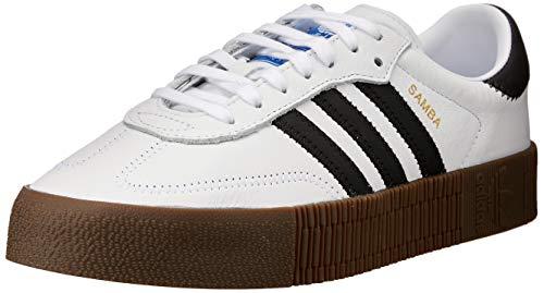 Adidas SAMBAROSE W, Zapatillas de Deporte para Mujer, Blanco (Ftwbla/Negbás/Gum5 000), 37 1/3 EU
