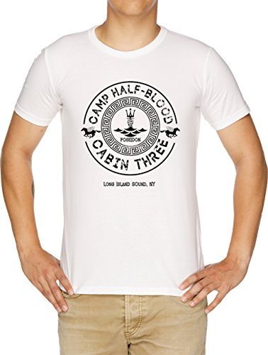 Percy Jackson - Camp Half-Blood - Cabin Three - Poseidon Herren T-Shirt Weiß