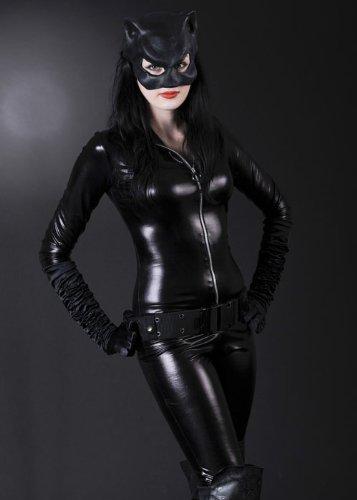 Womens Slinky Katze Deluxe Catwoman Kostüm M (UK (Kostüm Deluxe Catwoman Uk)