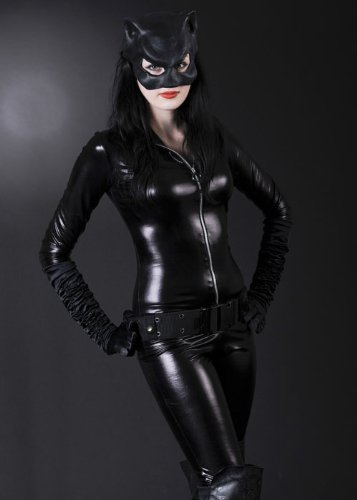 Blue Moon Womens Slinky Katze Deluxe Catwoman Kostüm L (UK (Catwoman Kostüm Kostüme Uk)