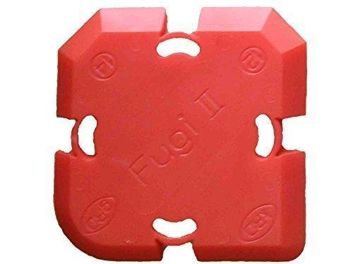 Fugi Nr.5 Rot, mit 4 Profilvarianten - Super Profi Silikonabzieher Fugengummi Silikonspachtel