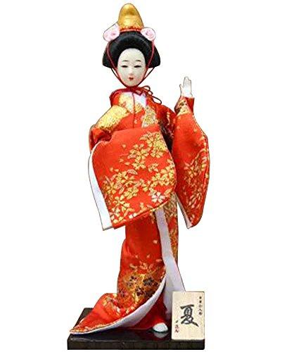 Japanische traditionelle Puppe Geisha Puppe antike japanische Puppen [S]