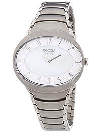 Boccia  B3165-10 - Reloj de cuarzo para mujer, con correa de titanio, color plateado