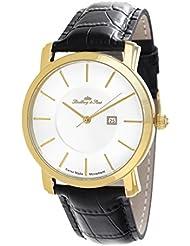 Lindberg & Sons LSSM81 - Reloj para hombre de cuarzo con correa de cuero color negro