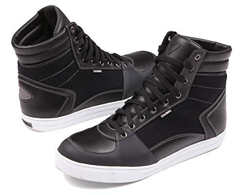 Modeka Urban Street-Stivali da moto Sneaker pelle/tessuto-Nero