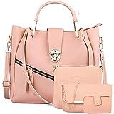 Smartyskull Women's Handbag With Sling Bag & Pouch (Set of 4)
