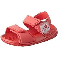 adidas Altaswim I, Sandalias para Niñas, Rojo (Corpnk Ftwwht Ba7868), 26 EU