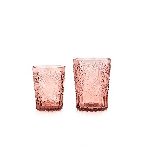 Van Verre Trinkglas Fleur de Lys, pink, S (Bild links)