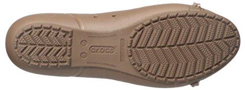 Crocs Cap Toe strass plat Bronze/Bronze