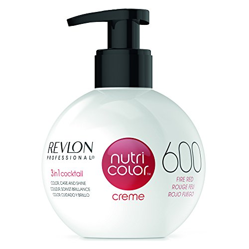 REVLON PROFESSIONAL Nutri Color Crème, Nr. 600 Fire Red, 1er Pack (1 x 270 ml)