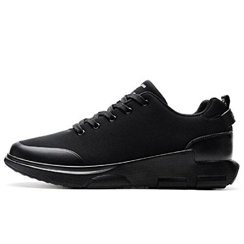 Uomo Moda Allaperto traspirante formatori Scarpe sportive Scarpe da corsa Asakuchi Fondo spesso Aumenta le scarpe euro DIMENSIONE 39-44 Black