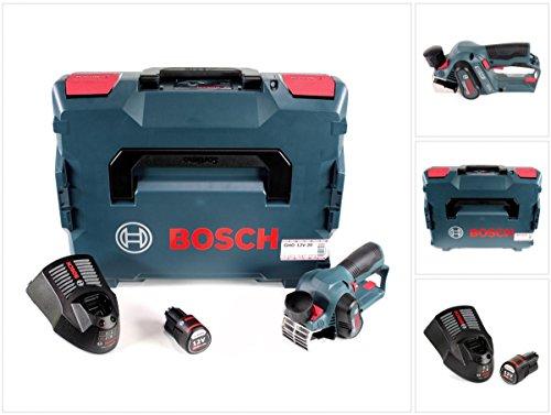 Bosch GHO 12V-20 Akku Hobel Professional in L-Boxx + 1x GBA 12 V 2,0 Ah Akku + GAL 1230 CV Schnell Ladegerät