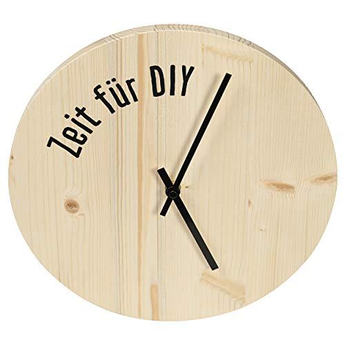 CREATE! by OBI DIY Wanduhr | Dekorative Uhr aus Holz zum Selberbauen (HINWEIS: Farbe im Set nicht enthalten)