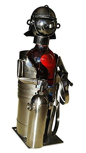 Gilde Flaschenhalter / Weinflaschenhalter / Weinständer Feuerwehrmann mit Feuerlöscher Nr 65167
